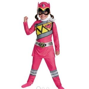 Pink Ranger Dino Classic Girl's Child Costume3T-4T